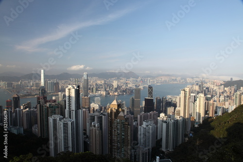Photo  Hong Kong panorama from famous The Peak