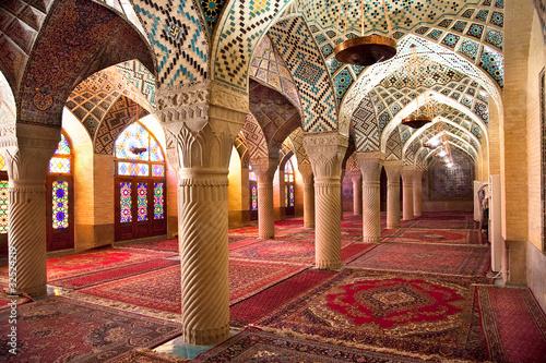 Fotografie, Obraz  Prayer Hall of Nasir al-Molk Mosque, Iran