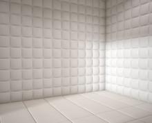 Empty White Padded Room