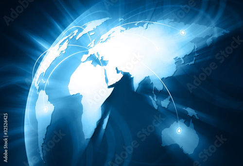 Internet Concept of global business #32526425