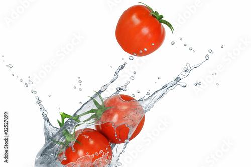 Poster Eclaboussures d eau Gemüse 155
