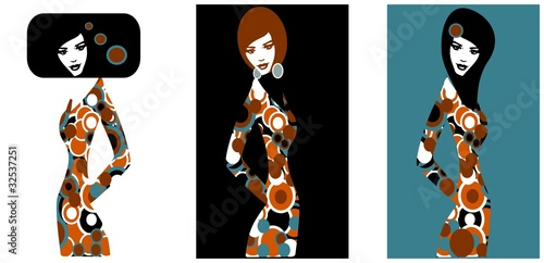 Aluminium Prints Painterly Inspiration trzy pop art modelki