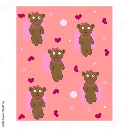 Wall Murals Bears teddy bear background vector