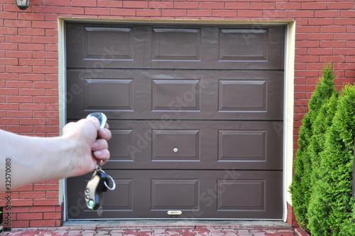 Fototapeta Drzwi  do garażu na pilota obraz