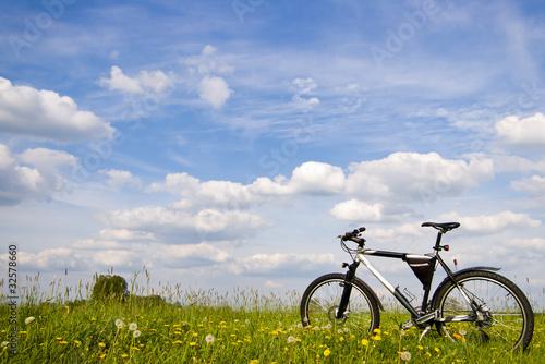 Spoed Foto op Canvas Noordzee bike