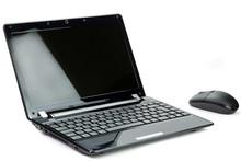 Shiny Black Netbook Isolated On White