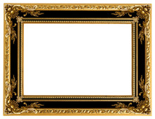 Picture Gold Frame With A Deco...
