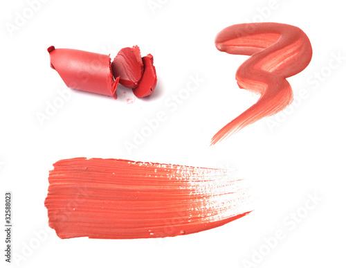 Fotografie, Obraz  Smudged lip gloss or lipstick samples