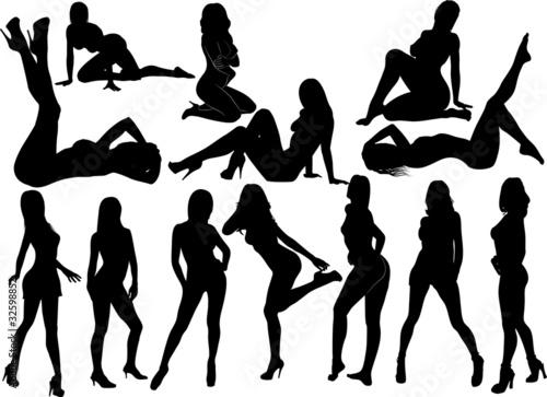 Obraz womens silhouette 3 - fototapety do salonu