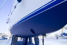 Boat Hull Sailboat Blue Antifo...