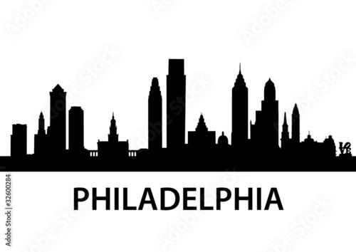 Fotografie, Obraz  Skyline Philadelphia