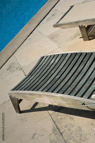 Piscine Terrasse Transat Chaise Longue Ete Vacances Zen Buy