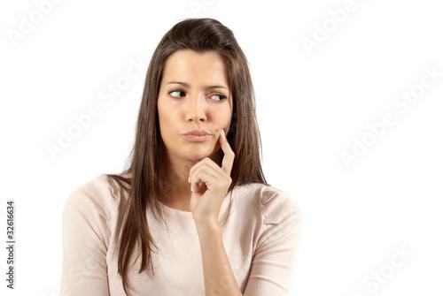 Fotografie, Obraz  Young woman pensive