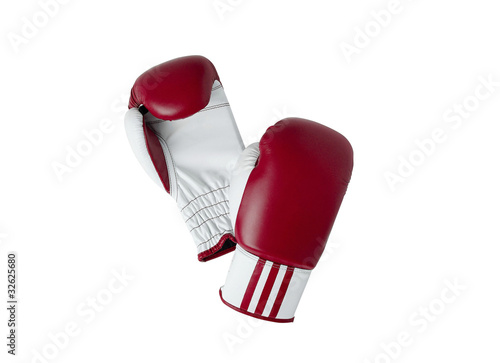 Fotografía  Boxing gloves isolated on white background