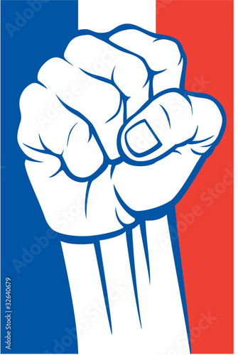 Obraz na płótnie france fist