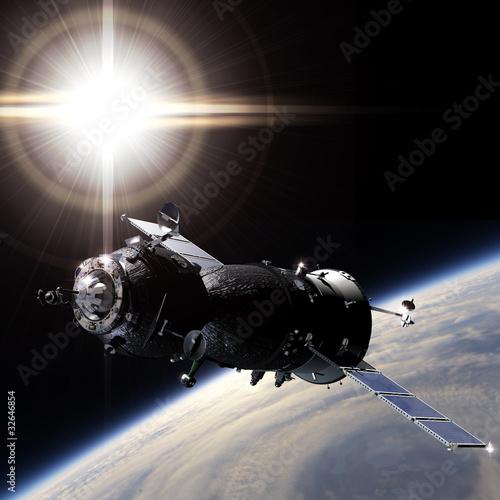 statek-kosmiczny-na-orbicie
