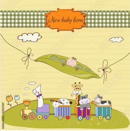 Customizable Birthday Card With Animal Toys Train Buy This Stock