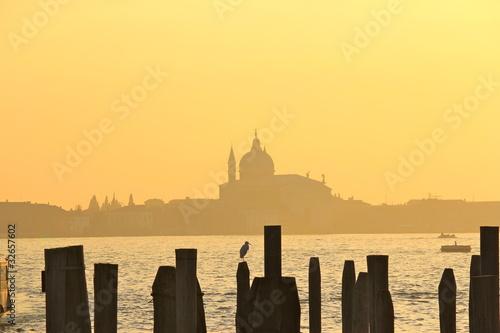 Coucher de soleil à Venise Wallpaper Mural