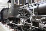 Detail of old steam locomotive