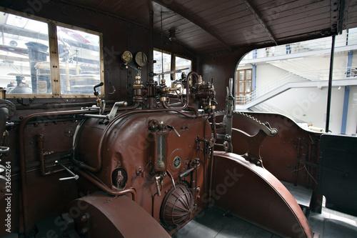 Carta da parati Detail of old steam locomotive