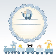 Delicate Baby Announcement Card