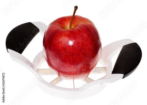 Fotografie, Obraz  Apple and Slicer