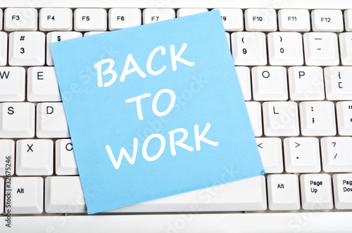 Back to work message Poster