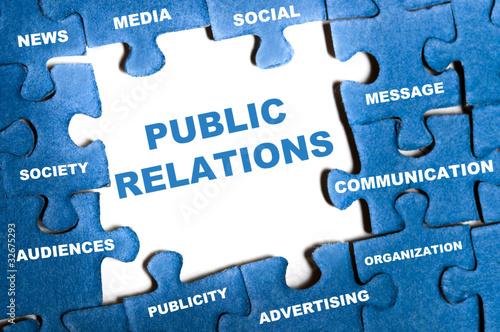 Fotografie, Tablou  Public relations puzzle