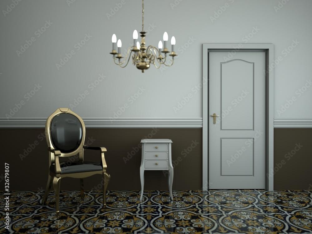 Zimmer Mit Kronleuchter ~ Wohndesign zimmer mit kronleuchter foto poster wandbilder bei