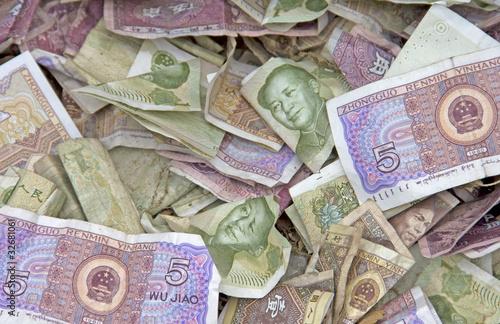 Fotografie, Obraz  Many Chinese Yuan bills