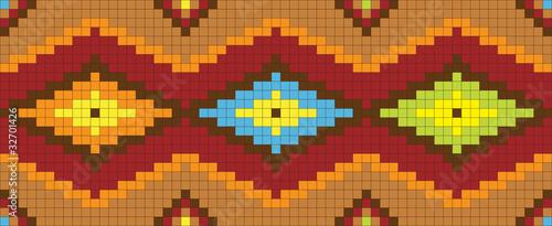Autocollant pour porte Pixel abstract ethnic ornament. Vector illustration