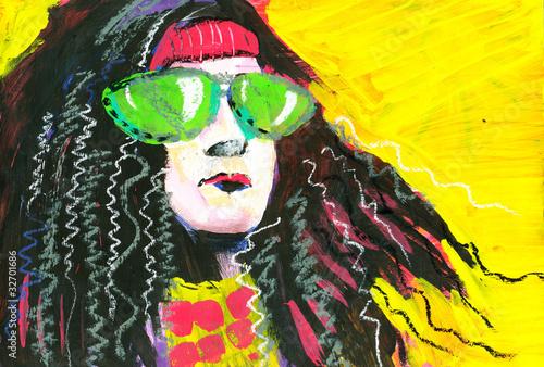 Photo  Portrait of hippie