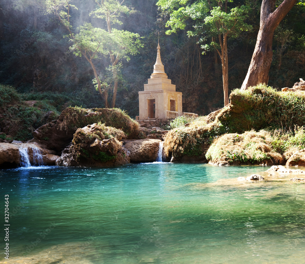 Fototapeta Waterfall in Myanmar