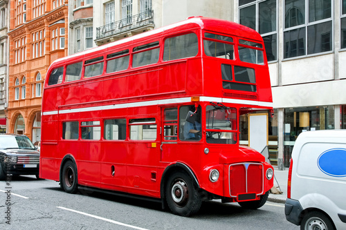 Aluminium Prints London red bus London bus