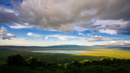 African landscape in the Ngorongoro Crater, Tanzania