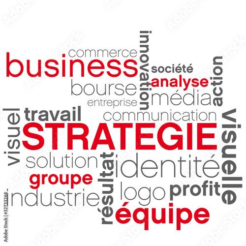 Fotografie, Obraz  vecteur mot stratégie