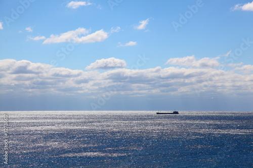 Poster Mer / Ocean Crimea. The ships on sea horizon