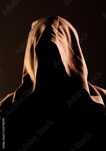 Fotografia Mystery unrecognizable monk