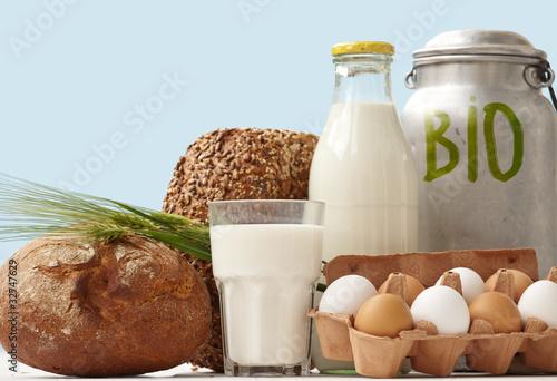 Fotografie, Obraz  bio Food Staples window Display