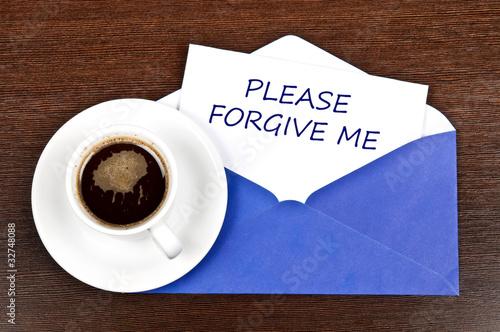 Fotografía  Forgive me message