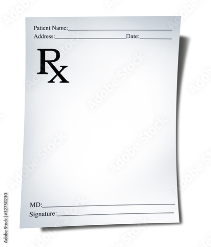 Fotografia  Medical prescription