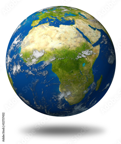 Fotografie, Tablou  Earth model planet featuring Africa and middle eastern