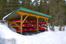 Stored Canoes