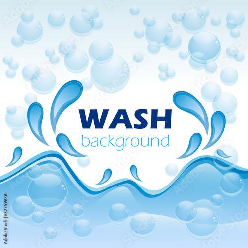 Valokuva  Wash background # Vector