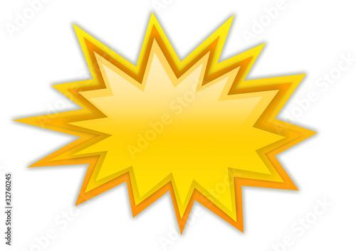 Boom splash star isolated on white Obraz na płótnie