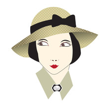 Vintage Woman In A Hat