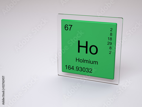 Holmium Symbol Ho Chemical Element Of The Periodic Table Buy