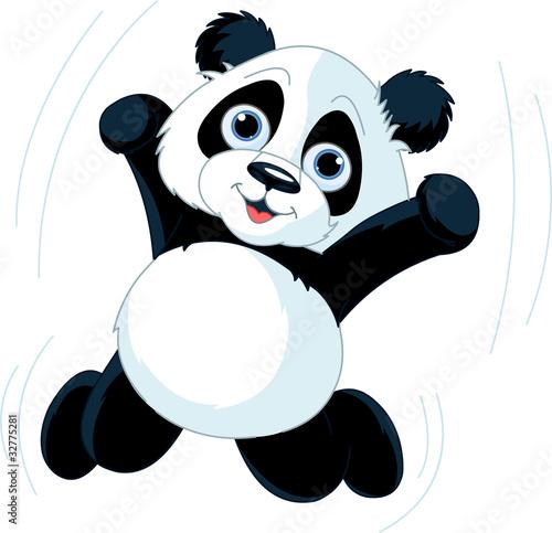 Printed kitchen splashbacks Fairytale World Happy Panda