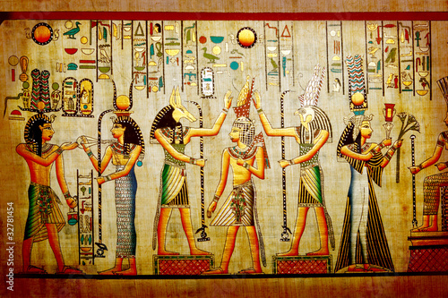 Spoed Foto op Canvas Egypte Papyrus. Old natural paper from Egypt