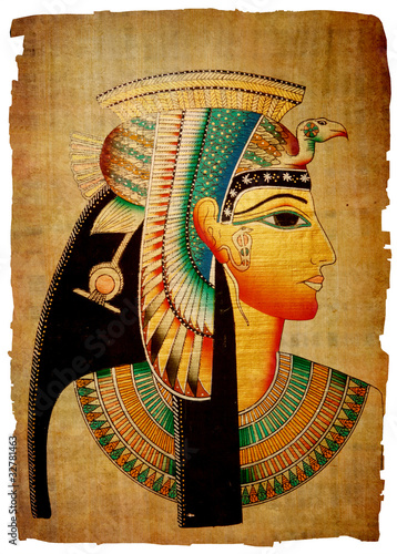 Fotografia Papyrus. Old natural paper from Egypt